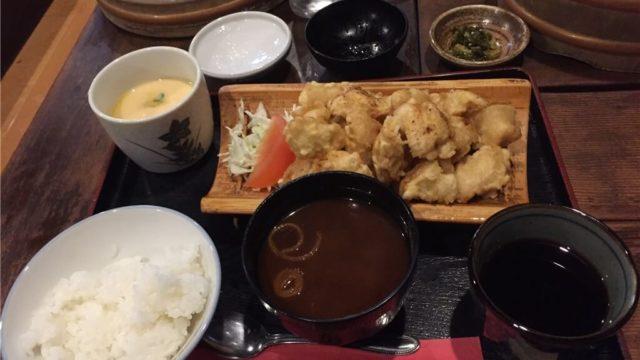 民芸茶屋「味蔵」のとり天定食